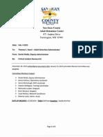 Report on San Juan County Adult Detention Center