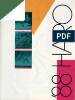 1988 Haro Catalog