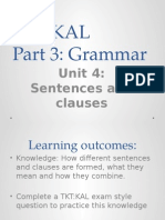 TKT Part 3 Unit 4 (14) Sentences and Clauses