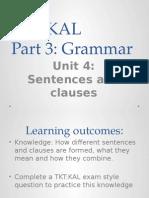 TKT Part 3 Unit 4 (14) Sentences and Clauses
