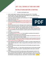 Procedure to Make Ignition Grains