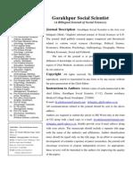 Journal of Gorakhpur Social Scientists