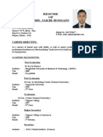 Personal Resume of Jakir.doc