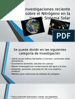 Investigaciones Reciente Sobre El Nitrógeno en La Tierra