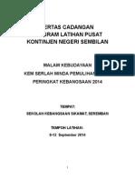 Kertas Cadangan Program Latihan Pusat Serlah Minda 2014