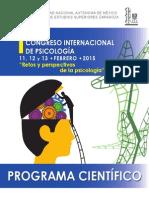 Programa Cientifico Congreso Internacional Psicologia