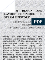 OPTIMUM DESIGN AND LAYOUT TECHNIQUES OF STEAM PIPEWORK