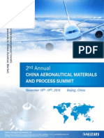 2nd ANNUAL CHINA AERONAUTICAL MATERIALS AND PROCESS SUMMIT