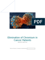 Elimination of Chromium in Cancer Patients 2