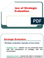 Overview of Strategic Evaluation