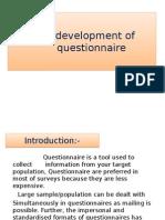 Designing & Dev. of Quastionnar