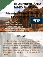 Rochas e Minerais Como Materiais de Construção