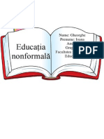 Referat Pedagogie - Educatia Nonformala