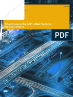 What's New in the SAP HANA Platform(Release Notes)