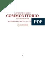 COMMONITORIO(San Vicente de Lerins)