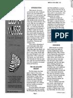 Zebra mussel fact sheet