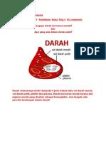 Kandungan Darah Manusia