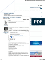 Calculation of ESI & PF
