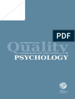 APA Principles for Quality Undergraduate Education in Psychology (Feb 2011)