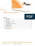 L-71L Industrial Laundry RFID Tag Able ID