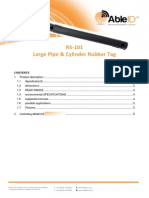 RS-101 LargePipe CylinderRubbrTag Able ID