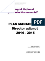 Plan Managerial Director Adjunct