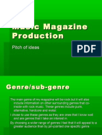 Music Magazine Production