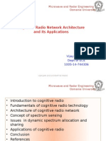 CognitivCognitive Radio Network Architecture and its Applications.ppte Radio Network Architecture and Its Applications