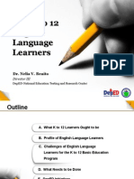 The K to 12 English Language Learners UST May2013 Revised 5.14.132