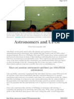 Astronomers and UFOs