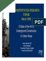 Underground Construction Presentation