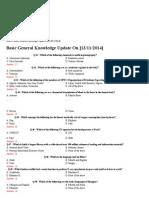 Bank Exam GK Question Bank, Syndicate Bank Syllabus, Old Paper General Awareness