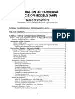 Manual for Building AHP Decision Models