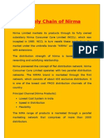 Supply Chain of Nirma