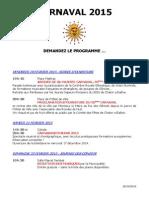 Programme du Carnaval de Chalon 2015