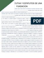 ACTA CONSTITUTIVA Y ESTATUTOS DE UNA FUNDACION DE LOS ABUELOS.docx