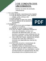 Termo de Conduta Para Colaboradores - SUPER DA BARRA