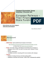 European Railways –Their Finances andState Funding