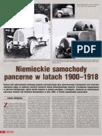 Niemieckie Samochody Pancerne Do 1918 - Artykuł MXXW