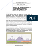 Informe Precipitaciones en El Chaco Boliviano