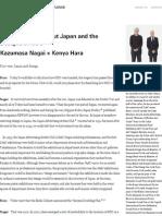 Kazumasa Nagai × Kenya Hara _ PEOPLE _ Nippon Design Center