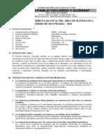 Programación Anual de Matemática 2015 - 1°