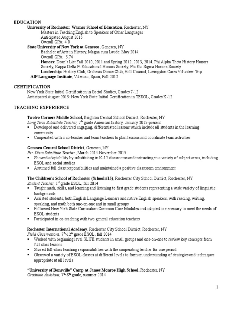 Final resume 2 english as a second or foreign language final resume 2 english as a second or foreign language differentiated instruction 1betcityfo Images