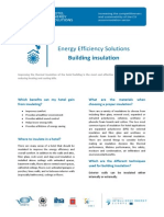 Ee Fact Sheet n 7 Building Insulation