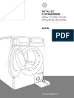 Applications to using a new washing machine