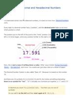 Binary, Decimal and Hexadecimal Numbers