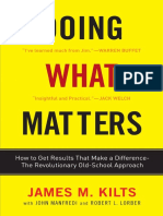 Doing What Matters by James M. Kilts - Excerpt