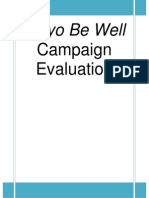 Mayo Be Well Evaluation Report