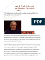 Noam Chomsky a Brief History of America's Cold-Blooded, Terroristic Treatment of Cuba