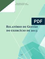 Relatorio de Gestao 2013 Ufpa